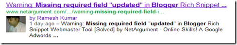missing required field updated blogger   Google Search