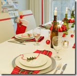 White and Red Christmas tablescape3