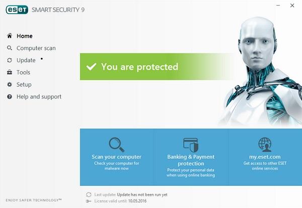 Phần mềm diệt virus ESET NOD32 Smart Security 9.0.318