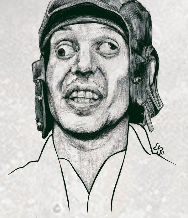 Expressões faciais estranhas esboçadas com canetas esferográficas