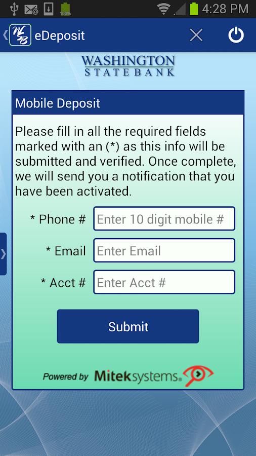 Washington State Bank Mobile - screenshot