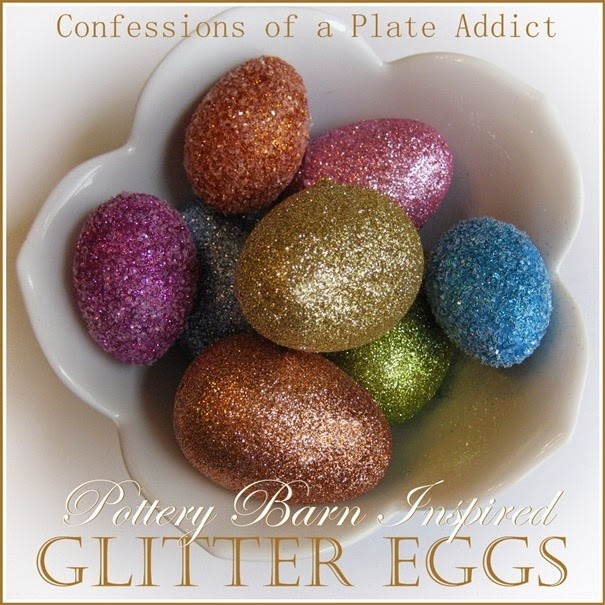 CONFESSIONS OF A PLATE ADDICT Pottery Barn Inspired Glitter Eggs Cheat