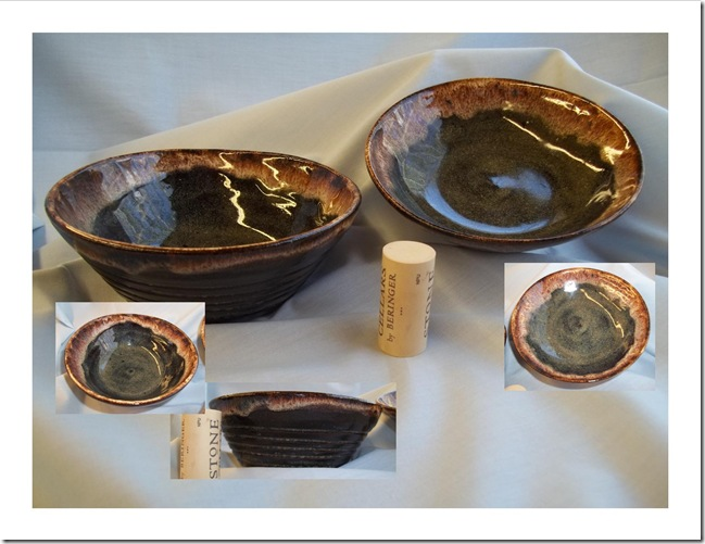 Two Small Brown Bowls