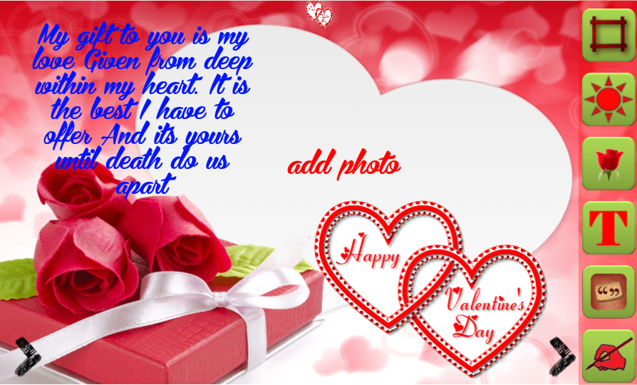 Photoshop Frame Happy Valentines Day Psd Photo Frames With Pink