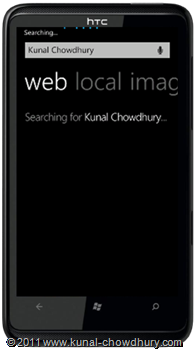WP7.1 Demo - Search Task Page