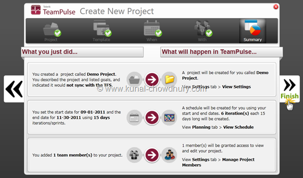6. Final Step to Finish the Project Creation