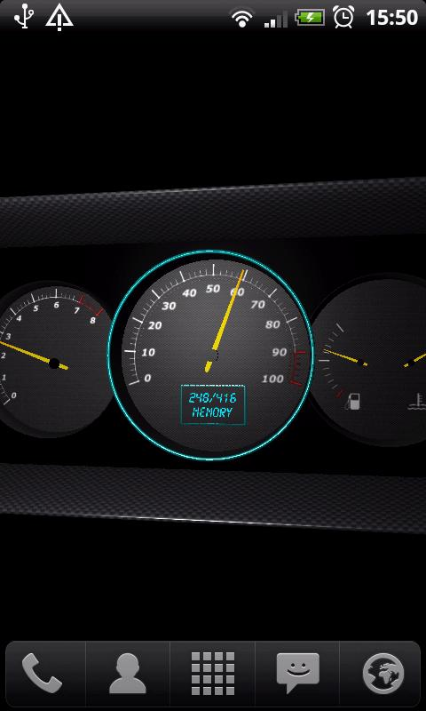 3D Speedometer Live Wallpaper - screenshot