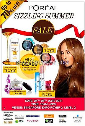 L'Oreal warehouse sale june 2011