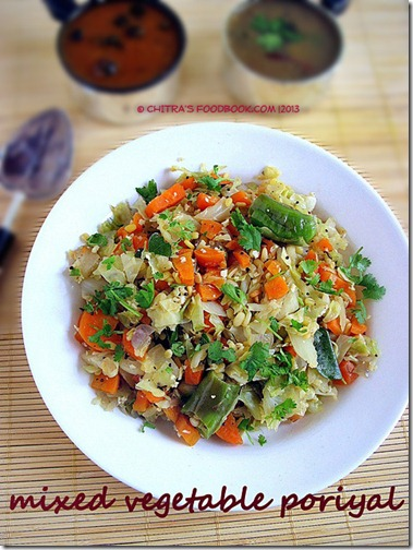 Mixed vegetable poriyal PLATE