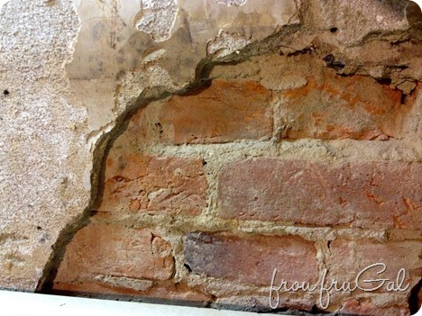 Kitchen Demo - Brick Wall