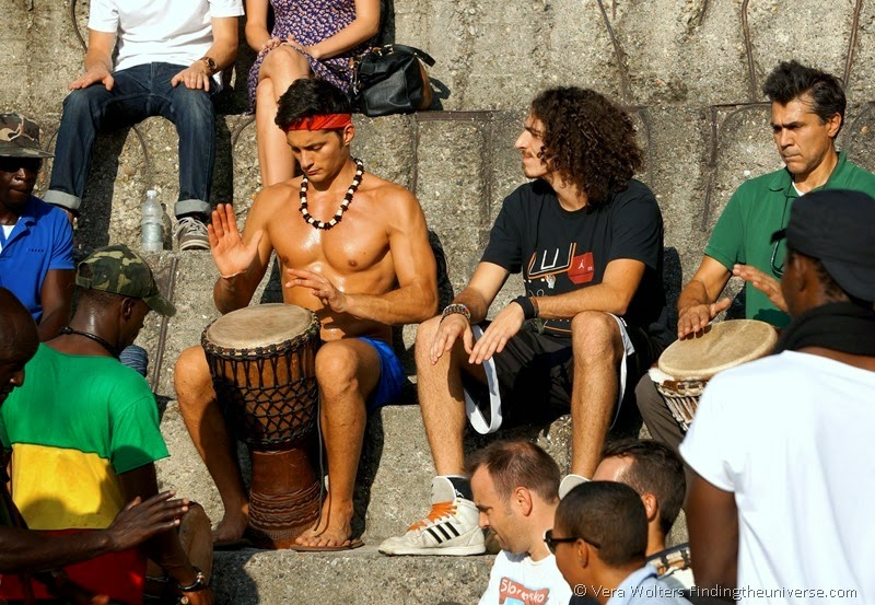 Week-end Drumming in Sempione Park, Milan, Italy