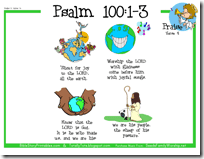 psalm 100 4 coloring pages - photo#35