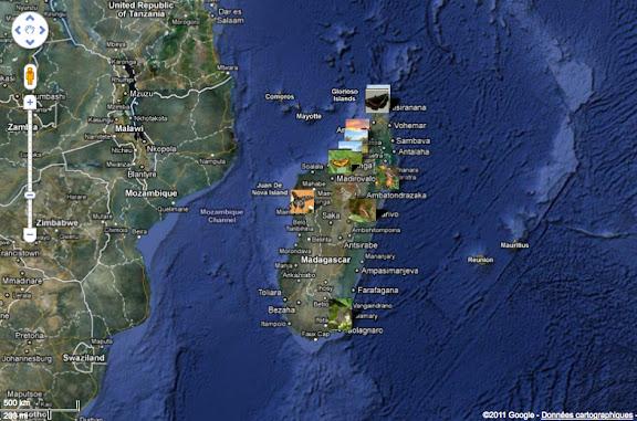 Localisation des photos à Madagascar