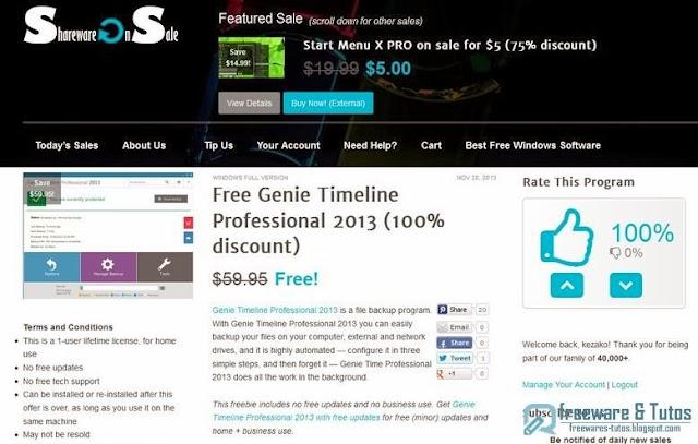 Offre promotionnelle : Genie Timeline Professional 2013 gratuit !