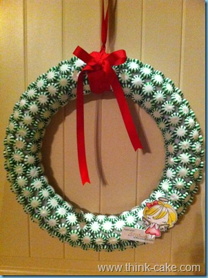 candy wreath