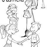 La Justicia Dibujos Para Colorear