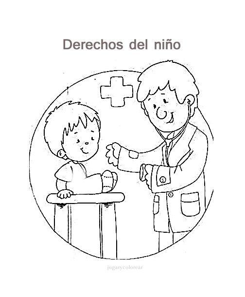 Deberes Y Derechos De Los Niños Dibujos Para Pintar De Los Derechos