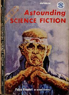 Cover by Van Dongen of British edition of Astounding Science Fiction magazine, April 1957 issue.