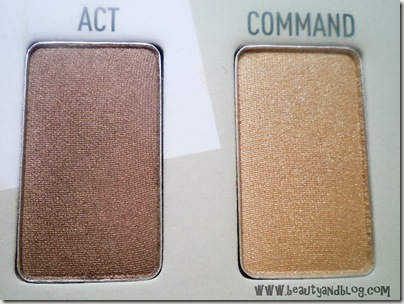 Sigma Beauty Bare Eye Palette Review Swatch Act Command Swatch