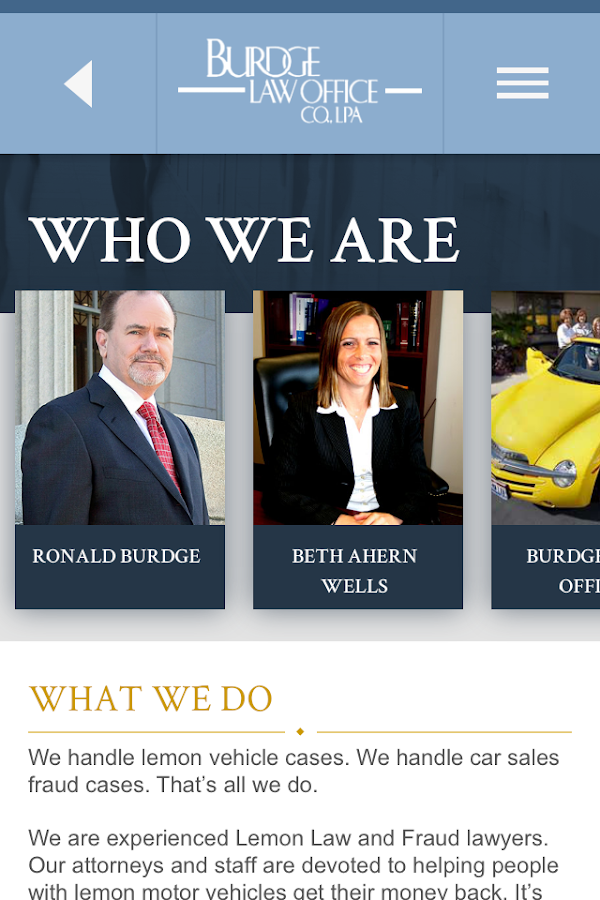 a review of the ohio lemon law Ronald burdge is a lemon law attorney in dayton, oh click ronald's profile to discover their avvo rating, write a review, and read professional endorsements.