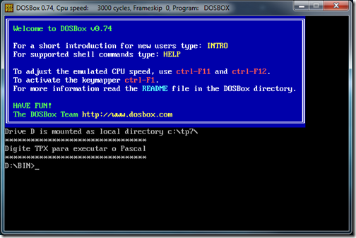 DOSBox and Pascal  009