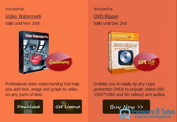 Offre promotionnelle : WonderFox Video Watermark à nouveau gratuit !