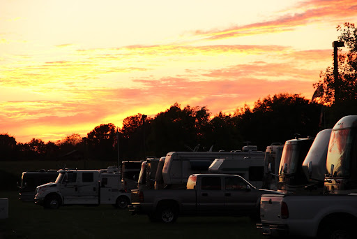 Sunset on the RVs at Escapade