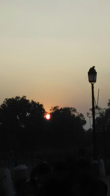 SUNSET IN DELHI WITH MY MOBILE CAMERA