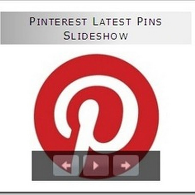 How To display Pinterest Latest Pins In A Slideshow
