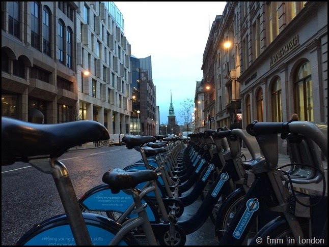 Boris Bikes on Great Tower Street