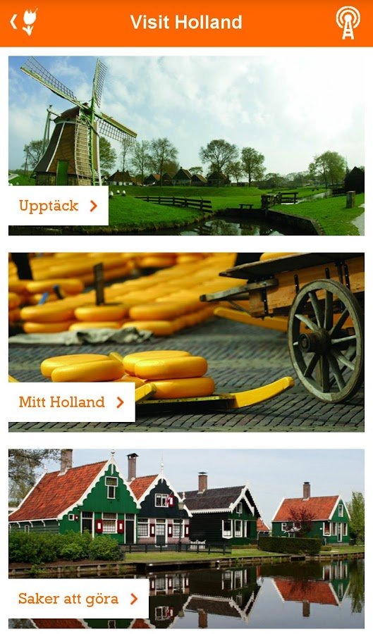 Visit Holland– skärmdump