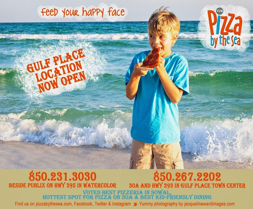 Pizza by the Sea in WaterColor FL * 850.231.3030 * in Gulf Place FL * 850.267.2202