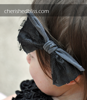 no sew lace bow tutorial