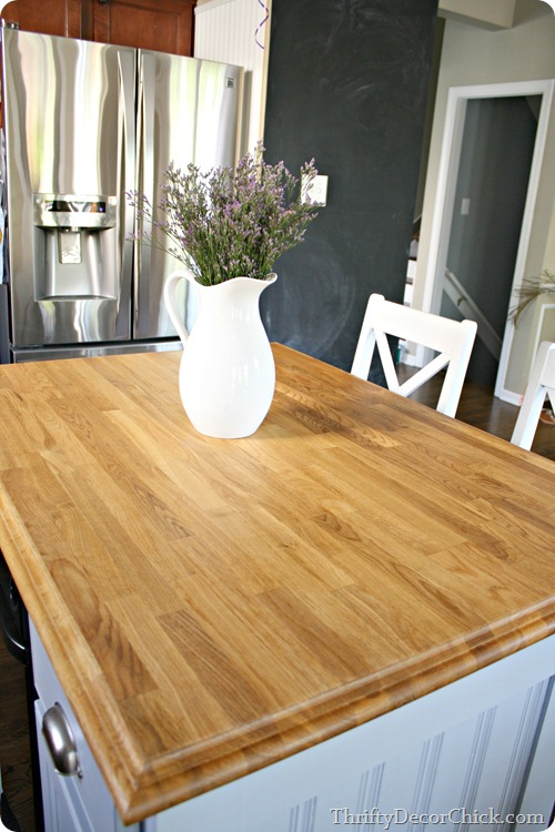sealing wood countertops