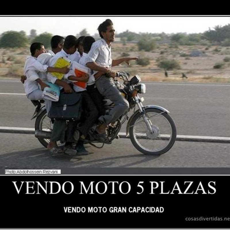fotos de motos 5 o más pasajeros