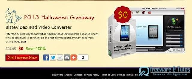 Offre promotionnelle : BlazeVideo iPad Video Converter gratuit (2ème édition) !