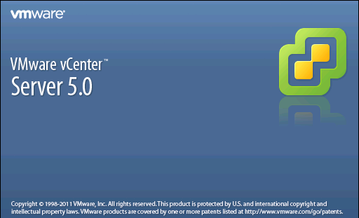 VMware vCenter Server 5.0 splash screen
