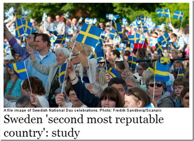 Sweden 2nd reputable