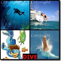 DIVE- 4 Pics 1 Word Answers 3 Letters