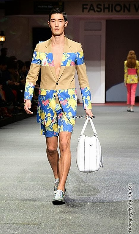 MCM Fashion Week 2013 Fide Spring Summer 2014 Marina Bay Sands Fashion Show Flower Boys In Paradise MCM Bags backpack handbag totebag bowling bag duffle clutch wallets briefcase shoes jackets coats blazers Men women dress