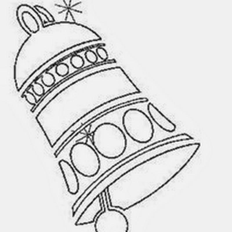 Dibujo de Navidad para pintar y colorear de campanas
