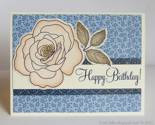 pemberley stickease 2 Happy Birthday card, CTMH, pre Artiste, no Art Philosophy Cricut
