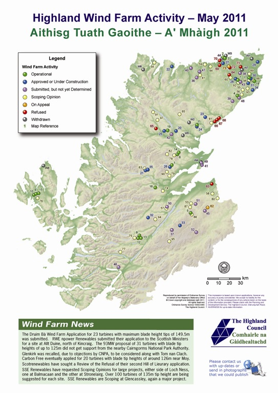 Highland Wind Farm Activity Report - May 2011