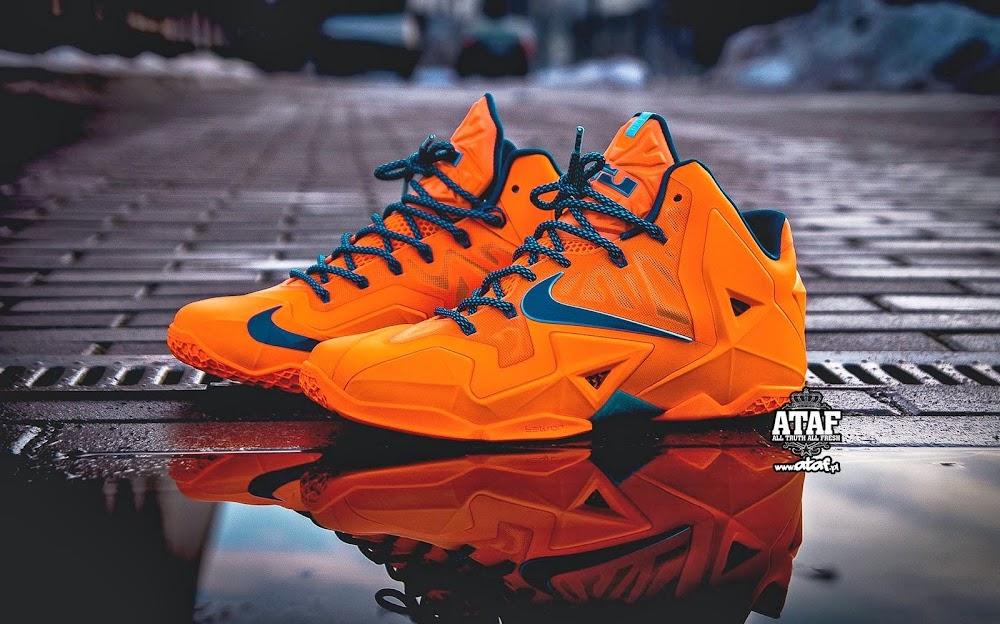 separation shoes a0c99 cc6b0 Release Reminder LeBron 11 Atomic Orange 8220Miami vs Akron8221 ...