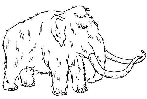 Dibujos De Mamuts Para Colorear