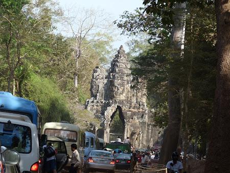 Obiective turistice Cambogia: ambuteiaj Ankor Thom