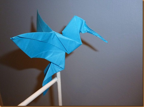 Crafting with Suzanne (& Jess): Origami Colibri Hummingbird - photo#13