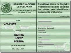 Curp Verde en linea Estado de Mexico para imprimir gratis