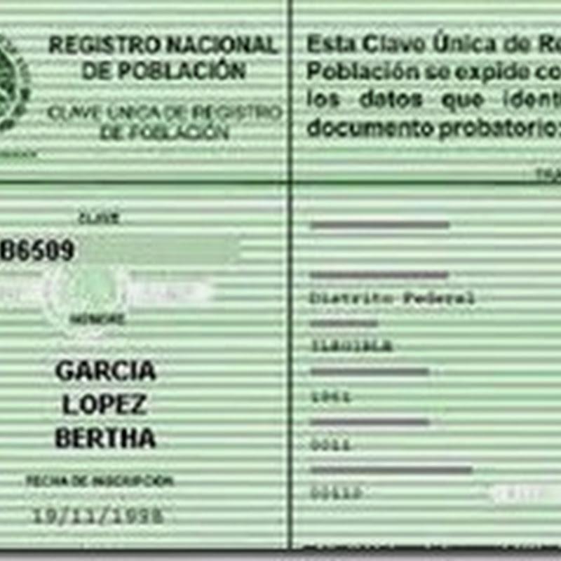 Curp Estado De Mexico Edomex Para Tramitar E Imprimir