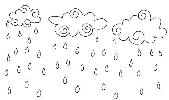 Dibujos Para Colorear La Lluvia